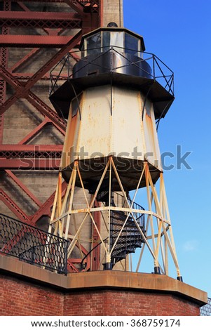Fort Point and its lighthouse are a designated Historic Site of the US National Parks system. - stock photo