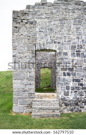 Fort Ruins Entrance - stock photo