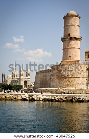 Fort Saint Jean in Marseille, France - stock photo