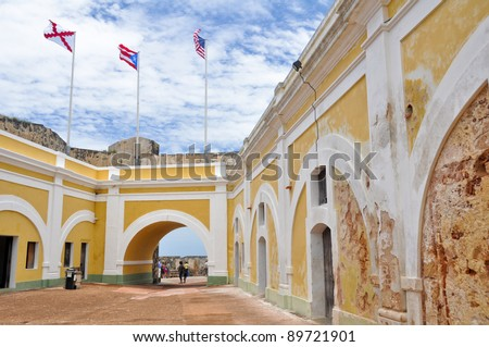 Fort San Felipe del Morro, Puerto Rico - stock photo
