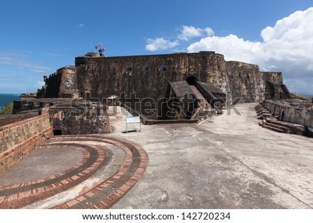 Fort San Felipe del Morro, San Juan, Puerto Rico - stock photo
