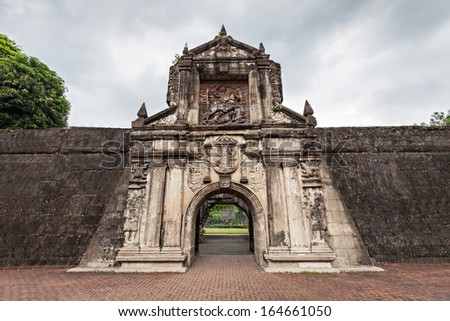 Fort Santiago in Intramuros, Manila city, Philippines - stock photo