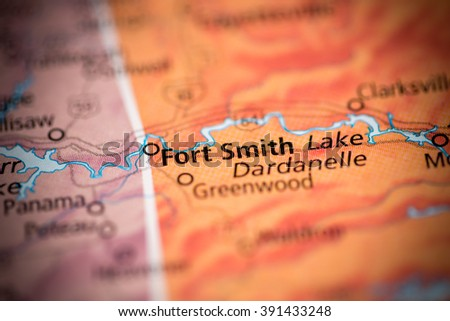 Fort Smith. Arkansas. USA - stock photo