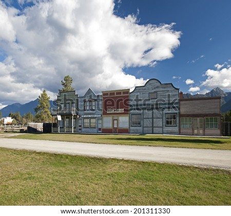 FORT STEELE, BC - OCT.15, 2010: Originally 'Galbraith's Ferry', gold rush town was founded in 1864. Now, Fort Steele Heritage Town, once the heart of Easy Kootenays is BC's premier tourist attraction