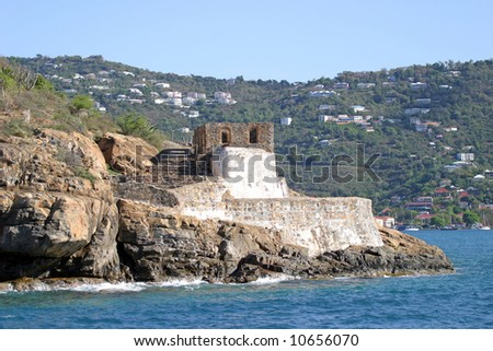 Fort Willoughby on Hassel Island, US Virgin Islands.