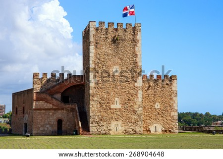 Fortaleza Ozama fortress in Santo Domingo, Dominican Republic