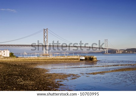 Forth Bridge at South Queensferry Scotland - stock photo