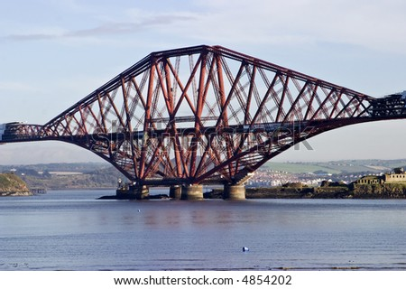 Forth Rail Bridge at South Queensferry Scotland