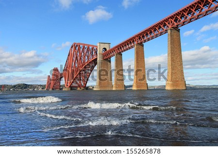 Forth rail bridge Scotland - stock photo