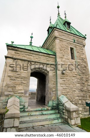 Fortifications of Quebec City - stock photo