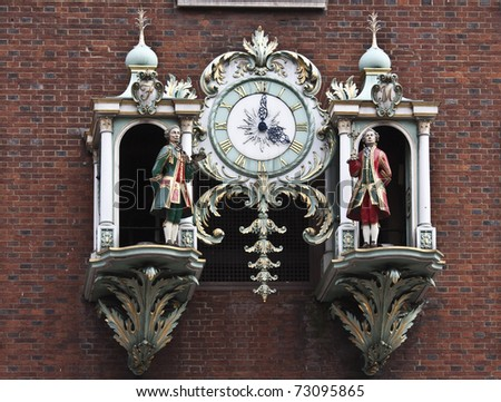 Fortnum and Mason clock - stock photo