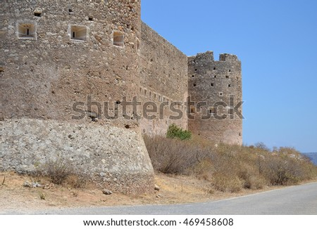 Fortress at Aptera in Crete, Greece