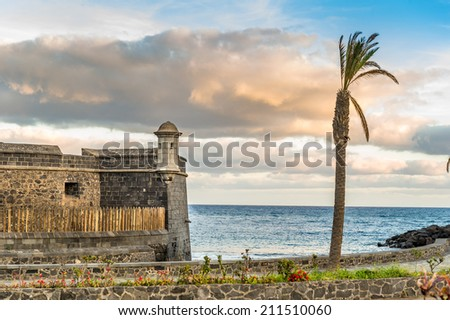 Fortress at Santa-Cruz de Tenerife, Canary islands, Spain - stock photo