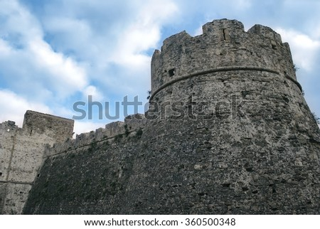 Fortress historic center of Agropoli village, Italy