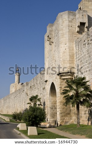 fortress in aigues-mortes, france
