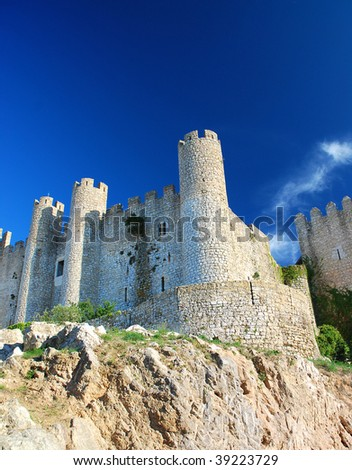 Fortress in Obidos, Portugal - stock photo