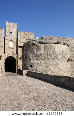 Fortress in Rhodes City, Greece