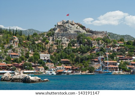 fortress in Turkey on the Mediterranean Sea