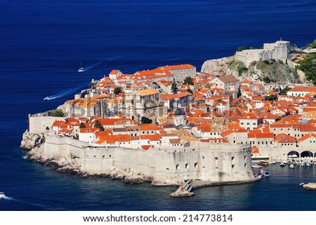 Fortress of Dubrovnik old town, Croatia - stock photo