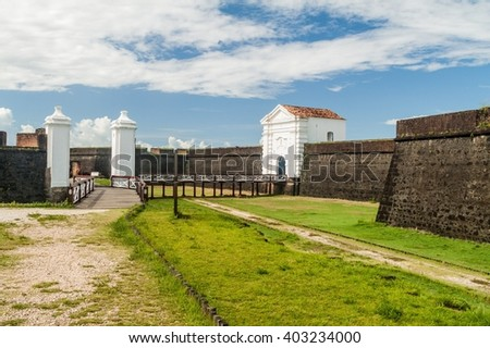Fortress of Sao Jose de Macapa in city Macapa, Brazil - stock photo