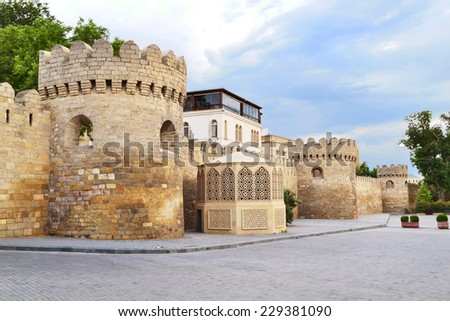 Fortress of the Old Sity Baku - stock photo