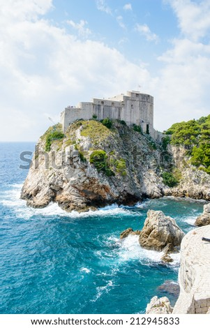Fortress of the Old town of Dubrovnik, Croatia.