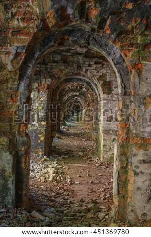 Fortress passage - stock photo