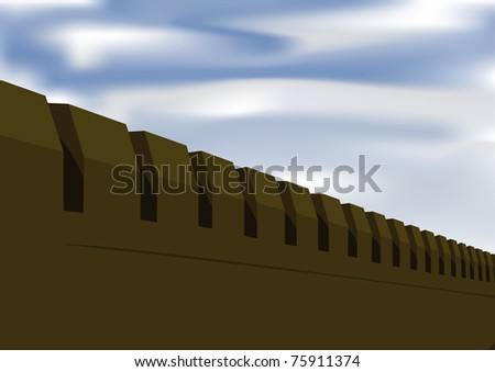 Fortress wall - stock photo
