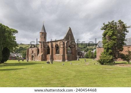 Fortrose Cathedral on the Black Isle in Scotland. - stock photo