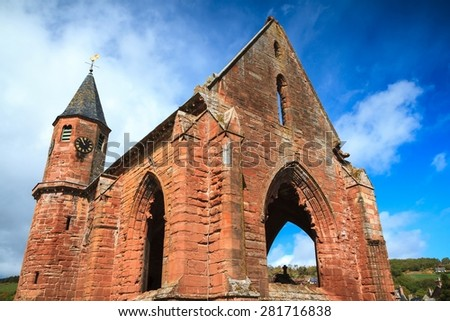 Fortrose Cathedral, Scotland. - stock photo