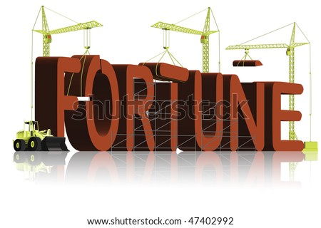fortune building get rich earn money win lottery or get gamble chance at casino be a winner with luck