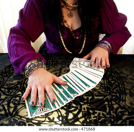 fortune cards - stock photo