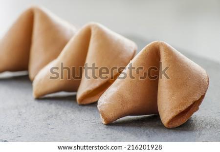 Fortune Cookies.  - stock photo