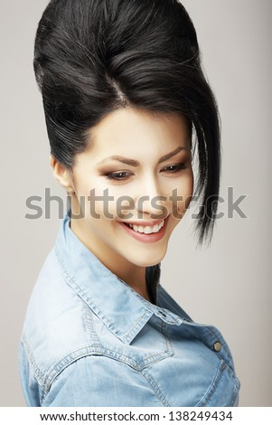 Fortune. Gladness. Happy Good-Looking Sincere Woman Smiling. Success