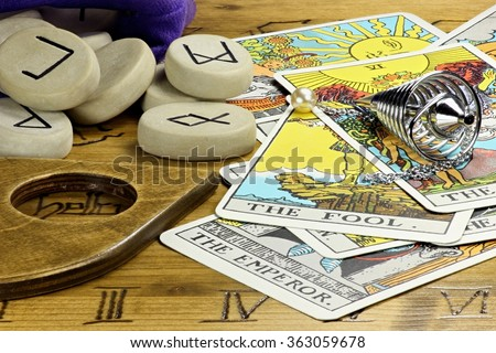 fortune telling accessories - stock photo