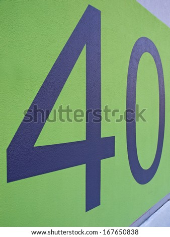Forty / House Number - stock photo