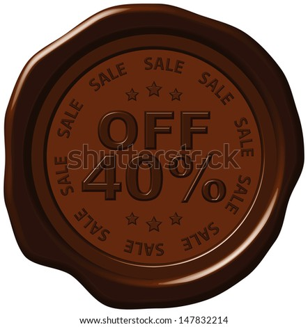 forty percent discount on wax seal