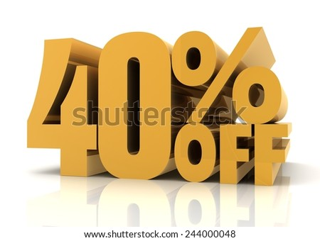 forty percent off sale