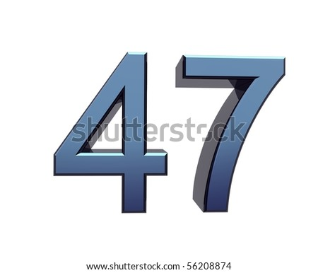 forty-seven - stock photo