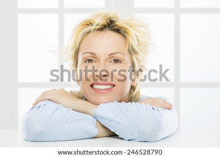 Forty years old woman - stock photo
