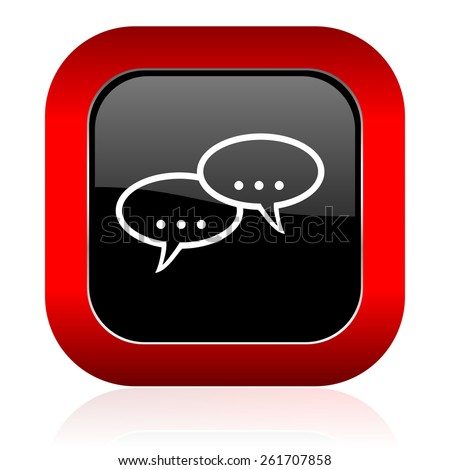 forum icon chat symbol bubble sign  - stock photo