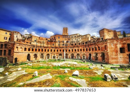 Forum of Augustus (Foro di Augusto) in Rome, Italy