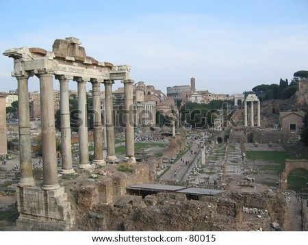 forum romanum - stock photo