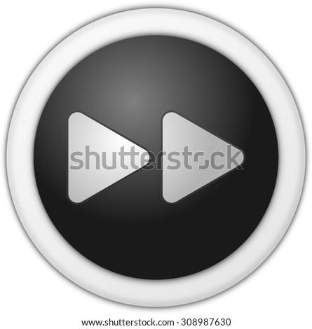 Forward Button Image Forward Button Black Stock