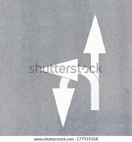 Forward, left, and u-turn - stock photo