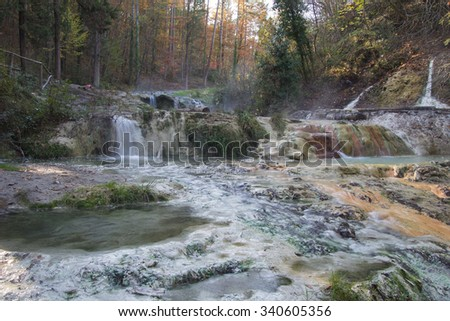 Fosso Bianco Bagni San Filippo Val Stock Photo (Edit Now)- Shutterstock
