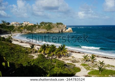 Foul Bay Beach in Barbados - stock photo