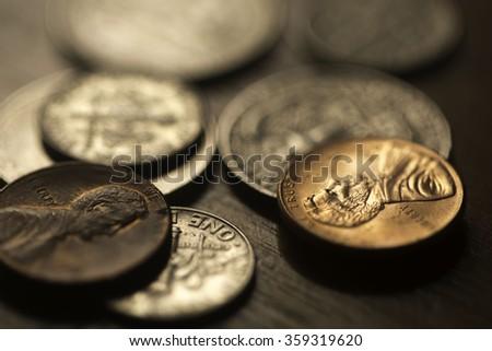 Found Pennies - stock photo