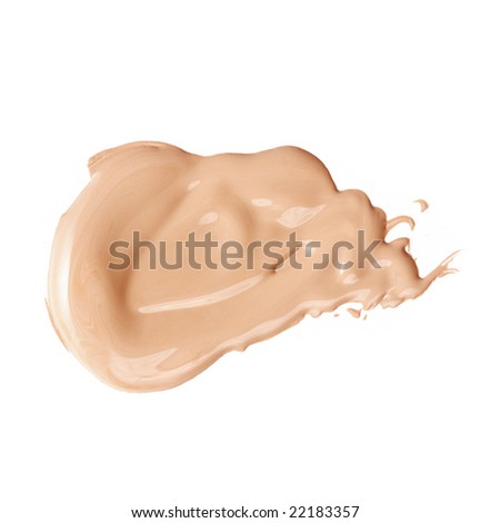 Foundation color sample - make-up for fashion and beauty magazines