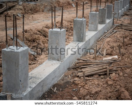 foundations on a construction site